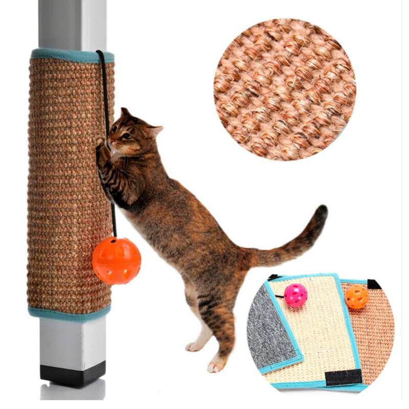 Natural Sisal Mat Cat Scratcher Furniture Toys Scratching Balls Toys For Cats Kitten Fun Supplies Protecting Cat Claw Toy