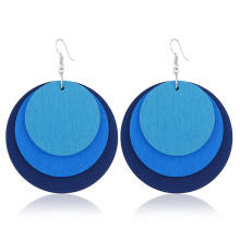 цена на LZHLQ Women Jewelry Multi-layered Earrings Colorful Drop Earrings
