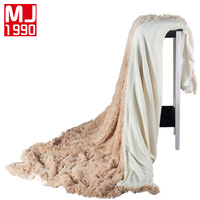 New European Lamb Yarn Dyed Knitted Thread Blankets Home/Travel For Adults Bedding Solid Color Simple Winter Velvet Mink Blanket