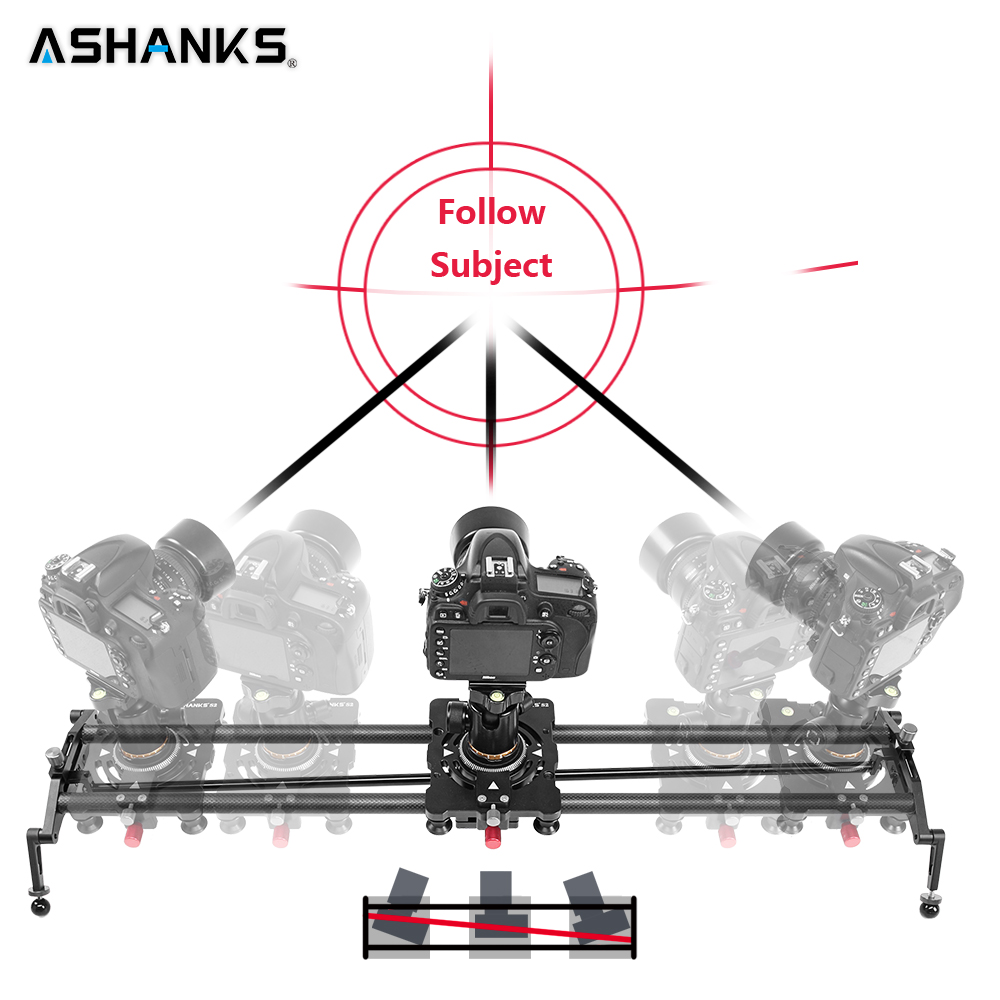 ASHANKS 60cm 4 Bearings Carbon Fiber DSLR Camera DV Slider Track Video Stabilizer Rail Track Slider For DSLR or Camcorder цена