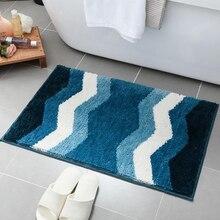 Simple Geometric Pattern Rug Thick Flocking Door Mats Home Bedroom Bathroom Carpet Absorbent Non-slip Doormat Kitchen Floor Mat недорого