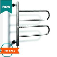 Stainless Steel Heated Towel Warmer Bathroom Constant temperature Automatic Drying Double layer Electric Heating Towel Rack