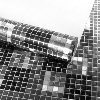 Modern Fashion Moasic Wallpaper 3d For Living room Bedroom T v Background  Home Decor Sliver Black Wall Paper Roll