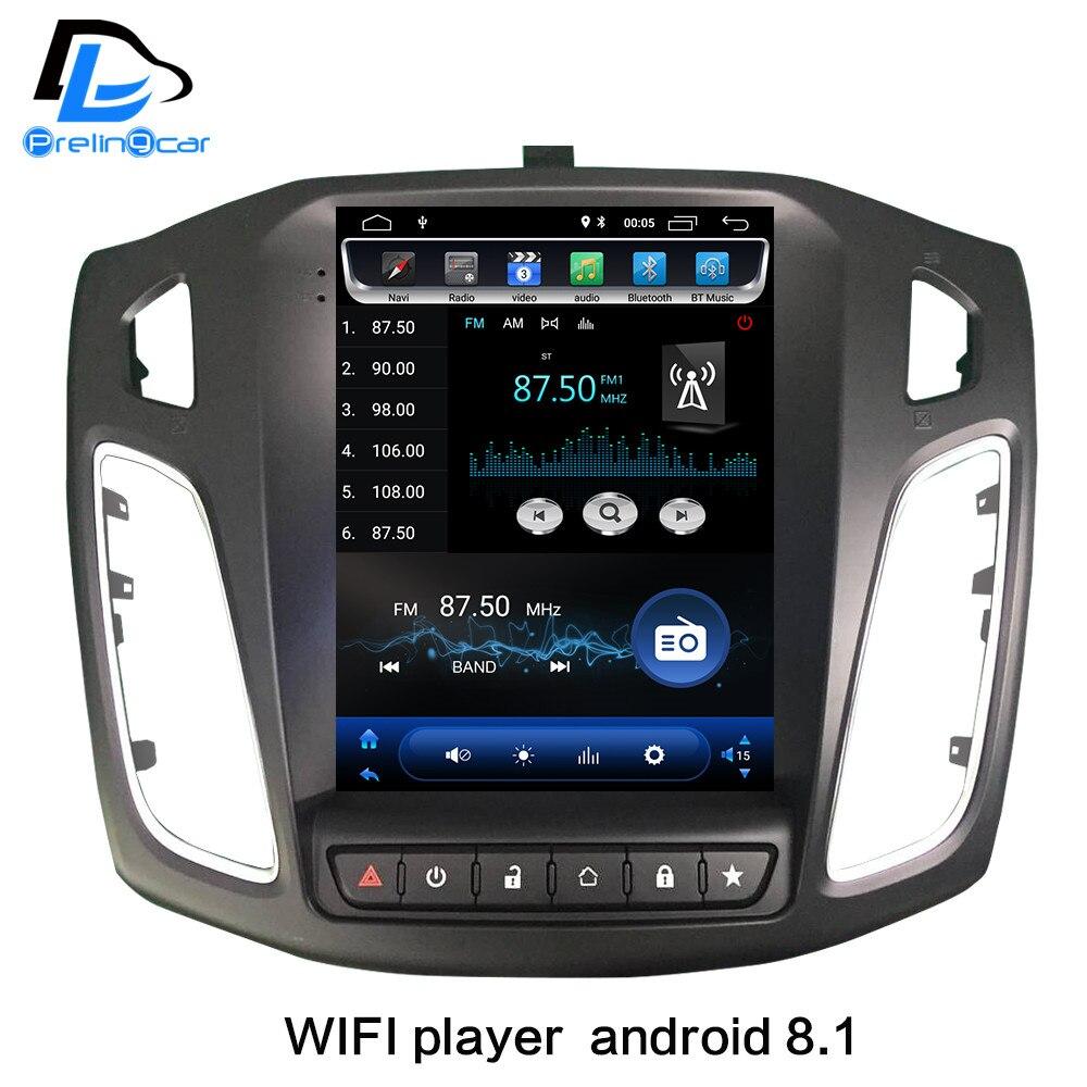 2G RaM Verticale écran android 8.1 voiture gps vidéo multimédia radio player pour ford focus salon 2012-2016 ans navigation stéréo