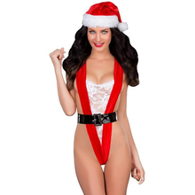 2016autumn very sexy ladies Christmas dress women exposed breasts sexy costumes sexy nighty sexy lingerie lace babydoll hot red