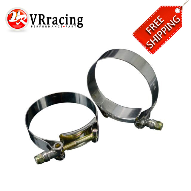 FREE SHIPPING 2PC/LOT SS304 3 CALMPS (79-87)STAINLESS SILICONE TURBO HOSE COUPLER T BOLT CLAMP KIT HIGH QUALITY VR5254