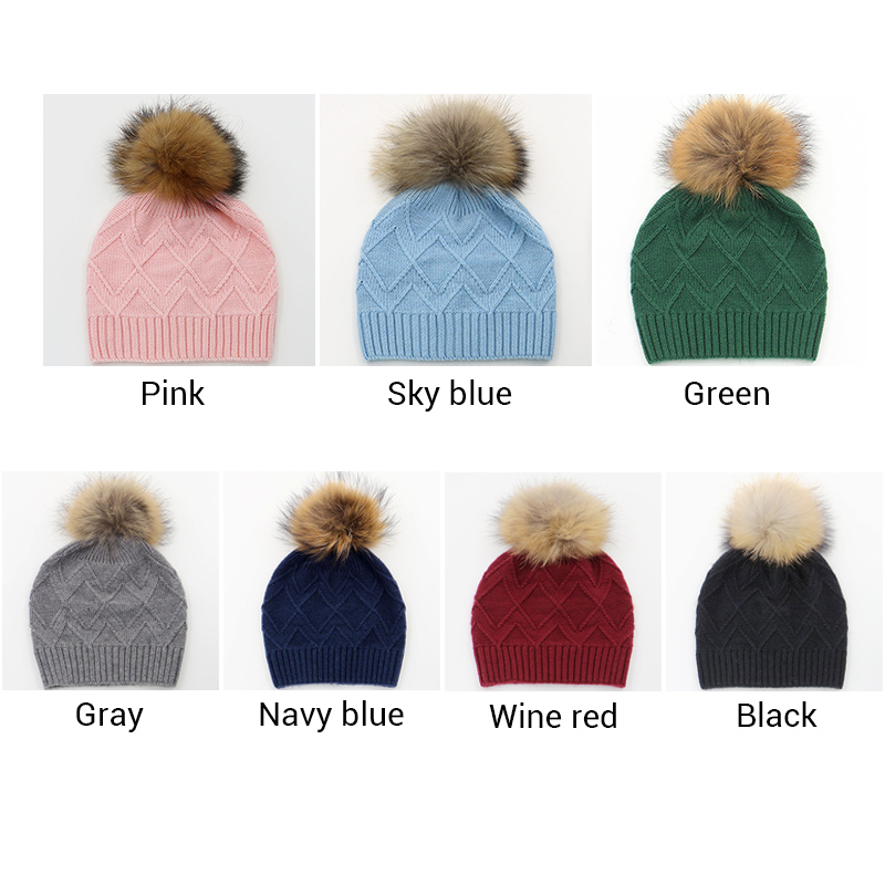227f9e10d89 2016 New Brand Women Winter Beanie Hat With 15 16cm Big Pompom Fashion Adult  Ladies Wool Gorros Beanie Hats Girl Fur Bobble Hat-in Skullies   Beanies  from ...