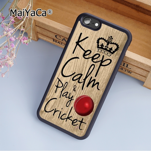 los angeles 6dbea 71943 MaiYaCa Keep calm & play cricket phrase ball sport fashion soft mobile cell  Phone Case Cover For iPhone 8 Custom DIY-in Fitted Cases from Cellphones &  ...