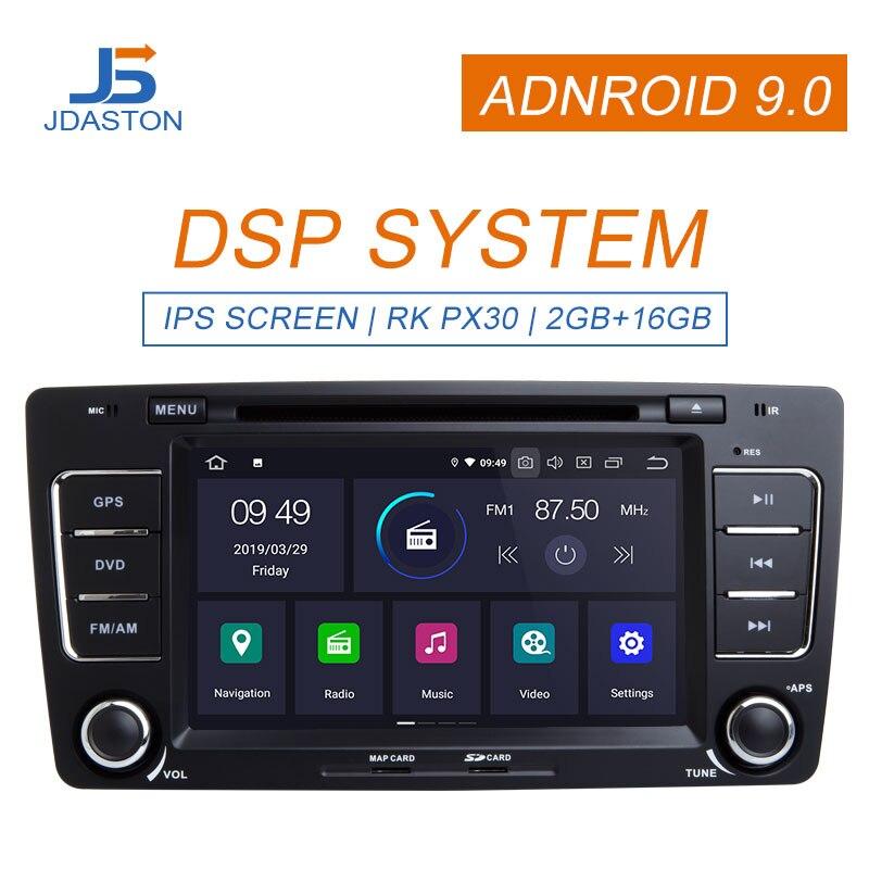 JDASTON 8 pouces Android 9.0 lecteur DVD de voiture pour SKODA Octavia 2009-2013 GPS Navigation multimédia stéréo 2 Din autoradio IPS WIFI