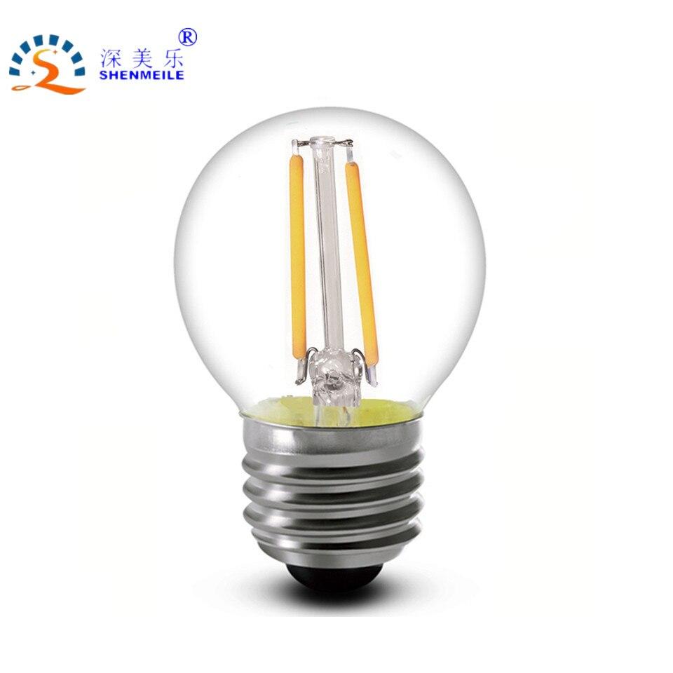 G14 LED E12/E14/E26/E27 2w 4w 6w 110V/220V Clear Cold white Retro G45 LED Filament bulb Edison lamp Ampoule G45 LED light bulb