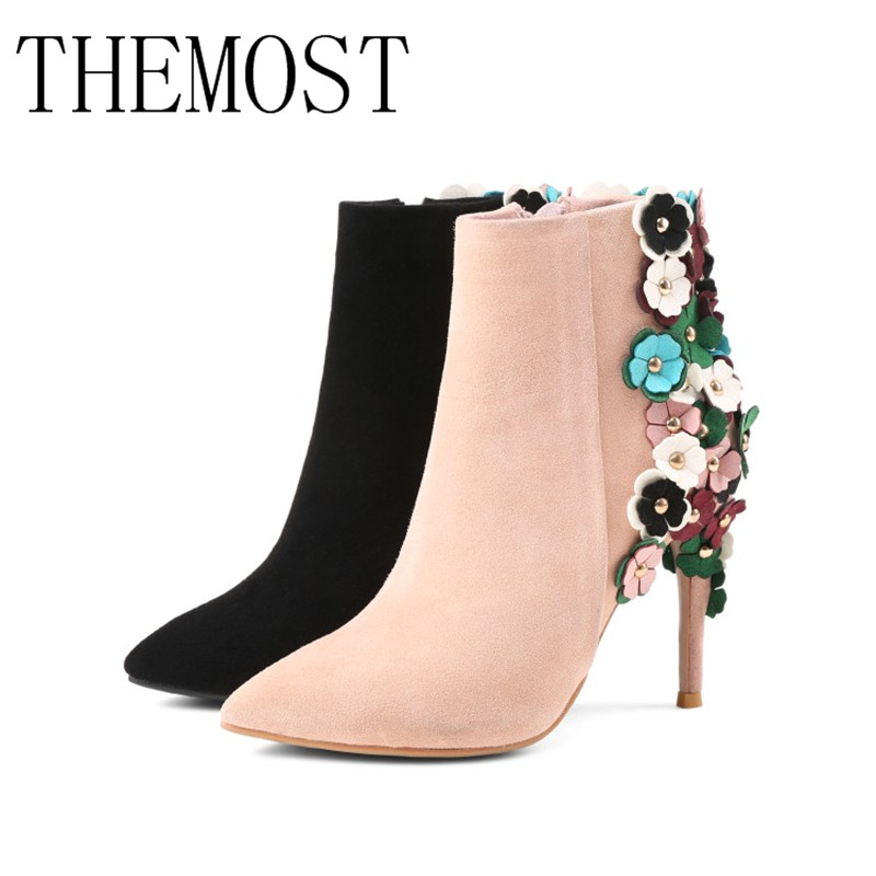 2017the mostfashion trends, European and American brands, genuine flowers, ladies' luxury, short shoes, club, sexy women's shoes