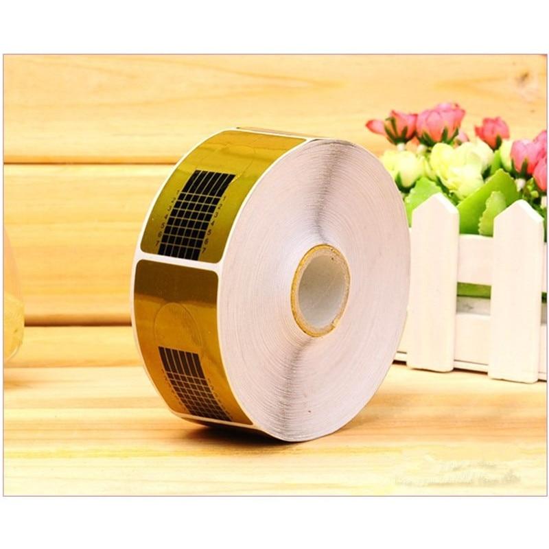 mtssii 500 pces rolo guia da arte do prego formulario adesivo de papel quadrado acrilico dourado