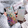 GURIOO Luxury Bling Glitter Shining Flash Powder case For iPhone 5 6 6S 7 8 Plus X Phone Back cover For iPhone 6 6s 7 Case Capa