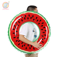 120cm inflatable red Fruit watermelon donut Swimming Ring swim circle Air Mattress water toys for child adult kids beach party