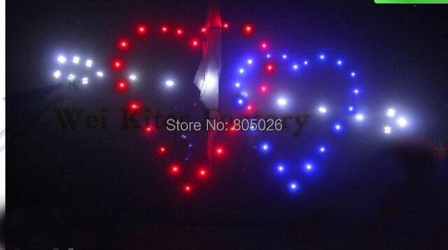 O envio gratuito de alta qualidade 3 sq. m Seta do Cupido levou pipas 180 p shinning amor lâmpada com carregador brinquedos ao ar livre de nylon ripstop
