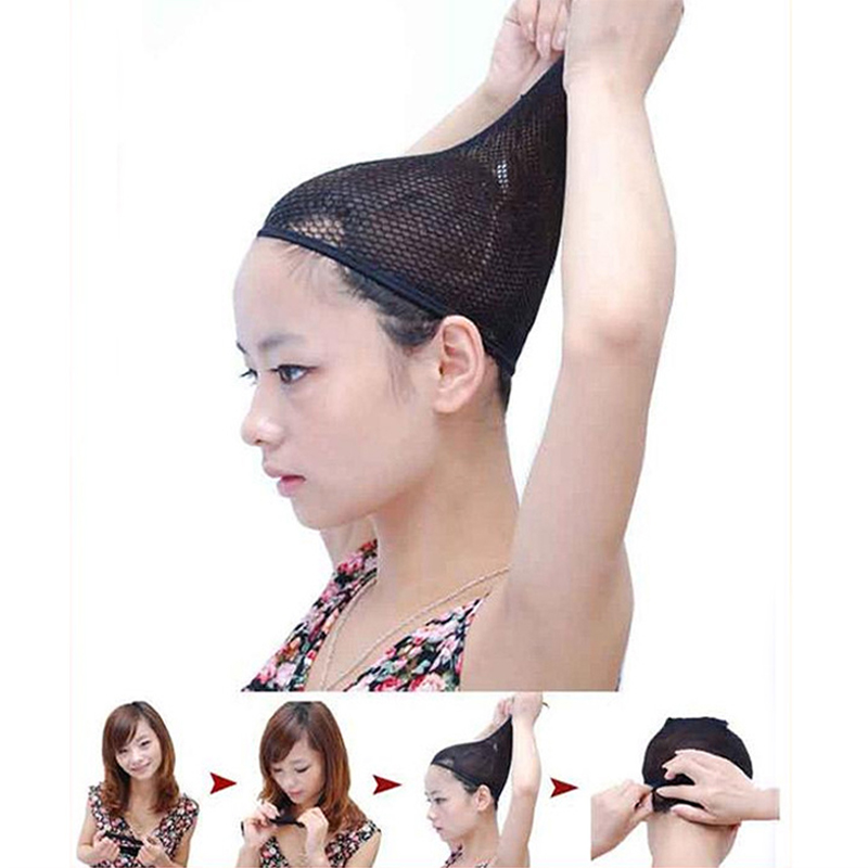 20 50 100Pcs bag Fashion Stretchable Mesh Wig Cap Elastic Hair Snood Nets for Cosplay high