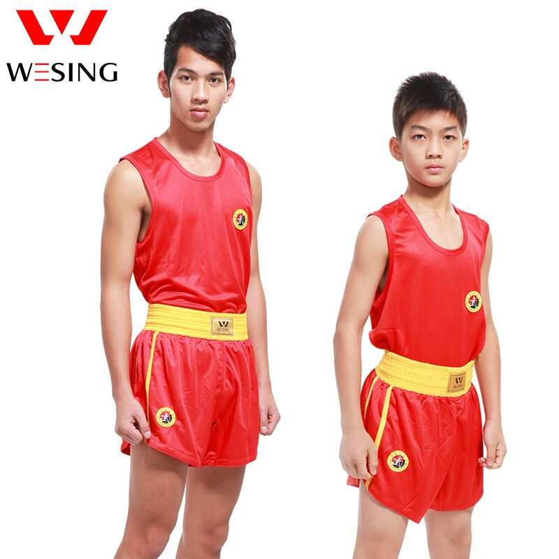 Wesing Kids Adults MMA Boxing Muay Thai Shorts+T Shirts Uniforms Sanda Martial Arts Outfits Training Competition Boxer Clothes