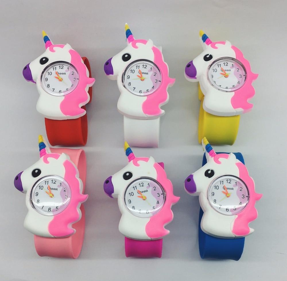 30pcs kids children Boys girls Unicorn Rubber Wristwatch Children slap watch Gift Party Kids Watch Watches