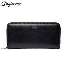 Danjue 2017 New Men Wallets Casual Purse Clutch Bag Money Clip Business Handbag Long Design Large