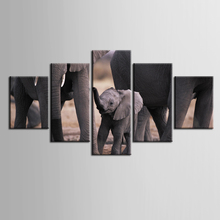 Framed Printed Animals Elephant family Painting Sitting Room Decor Print Poster Picture Canvas Home Decoration/ZT-3-65