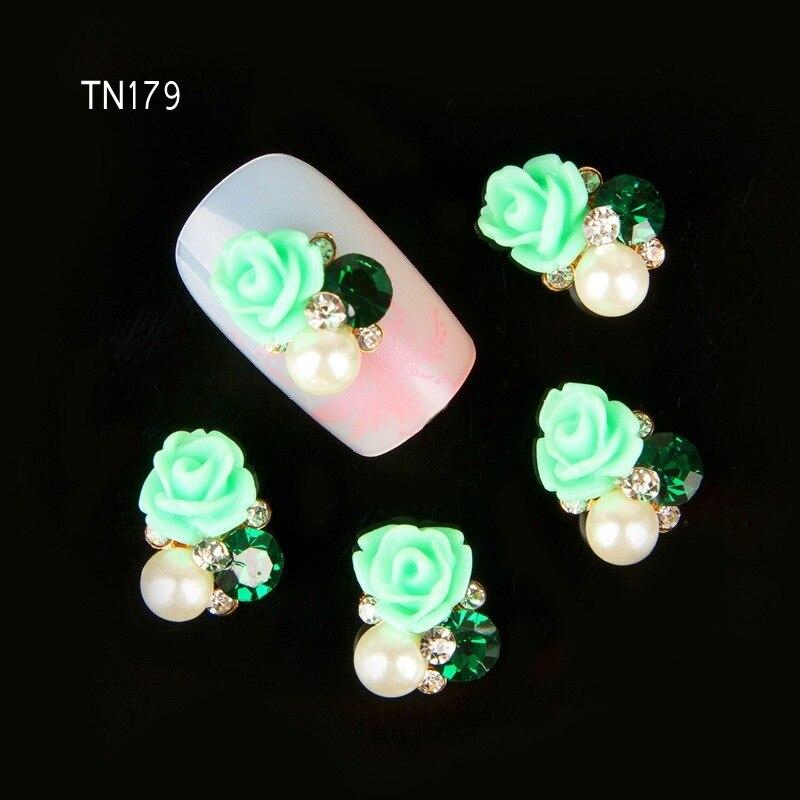 ᗑ】10 unids 3D aleación nails Art decoración uñas herramientas gel ...