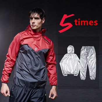 Workout Hot Sweat Sports Suits Hooded Men's Running Sets Sweat Basketball Sports Suit Clothes Gym Fitness Running Training Suits