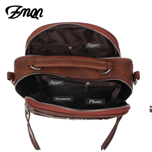 ZMQN Small PU Leather Handbags 3