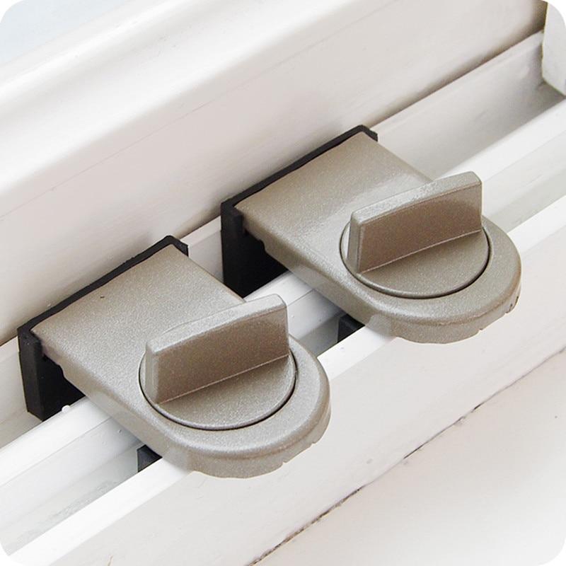2pcs Adjustable Zinc Sliding Window lock baby Child Safety Lock Anti-theft Home Door Window Sash Stopper Locks baby Safety Catch