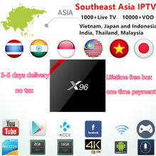 India IPTV BOX Subscription 1000+Arabic/Japan/Malaysia/Vietnam/Thailand Channels Android IP TV Smart set top TV No Monthly Fee(China)