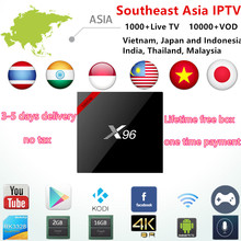 India IPTV BOX Subscription 1000+Arabic/Japan/Malaysia/Vietnam/Thailand Channels Android IP TV Smart set top TV No Monthly Fee