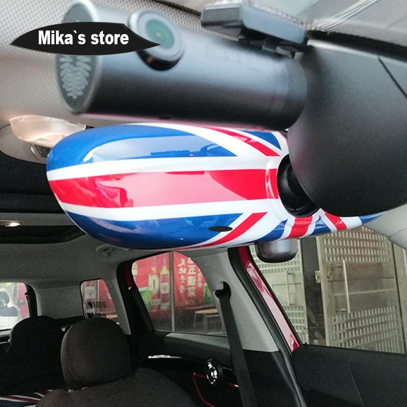 Union Jack Interior Mirror Cover Shell Sticker Protective Cap Case For Mini Cooper R55 R56 R60 Countryman Car-styling Accessorie