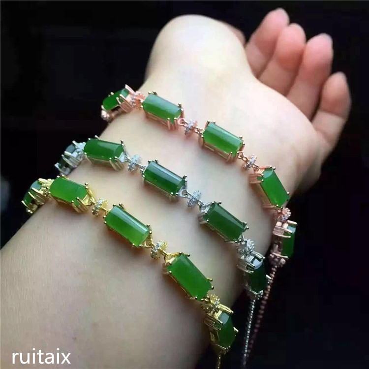 KJJEAXCMY fine jewelry 925 Pure silver inlay natural hetian jasper female style bracelet small wild flowers retro rectangleKJJEAXCMY fine jewelry 925 Pure silver inlay natural hetian jasper female style bracelet small wild flowers retro rectangle