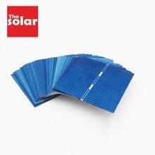 50 PCS פנל סולארי 5 V 6 V 12 V מיני שמש מערכת DIY עבור סוללה מטעני טלפון סלולרי נייד תאים סולריים 52x52mm 0.5 V 0.43 W