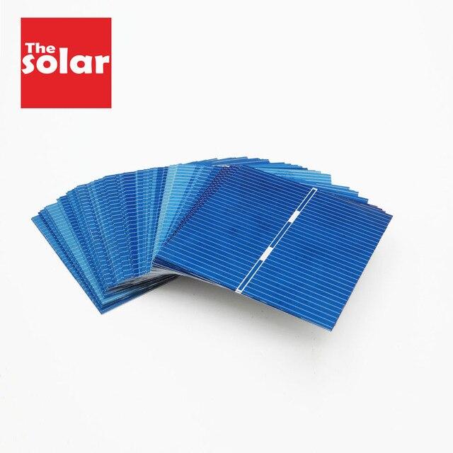 50 sztuk Panel słoneczny 5V 6V 12V Mini układ słoneczny DIY akumulator ładowarki do telefonów przenośne ogniwo słoneczne 52x52mm 0.5V 0.43W
