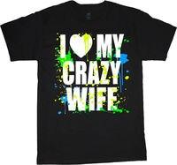 Gildan J'aime Mon Épouse Fou drôle saint valentin cadeau idée pour hommes t-shirt hommes de noir
