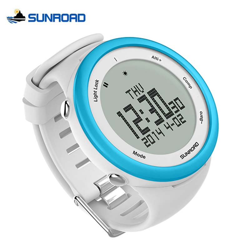 SUNROAD Outdoor Climbing Camping Watches Pedometer Barometer Altimeter Compass Relogio Waterproof Digital Smart Sports Watch trendy boho chic tie dye blotch pattern fold over figure fitting long maxi skirt