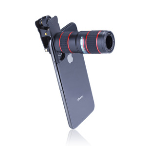 Image 4 - 6 ב 1 טלפון עדשת סט 12X רחבה זווית מאקרו טלפון עדשת HD מעוותת מצלמה טלפון עדשת לחיות חצובה טלסקופ סט