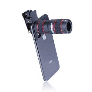 Image 4 - Conjunto de lentes de teléfono 6 en 1 12X gran angular Macro lente de teléfono HD Cámara no distorsionada lente de teléfono en vivo trípode telescopio conjunto