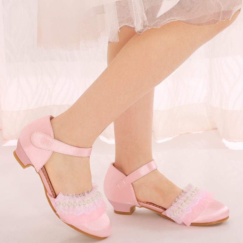 Kids High Heels Princess Girl Sandals Single Shoes Breathable High Quantity Fashionable Children's Baby Kid s Shoes 503 8