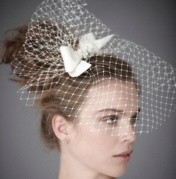 Stunning 1 Layer Tulle Fine Short Wedding Veil Birdcage