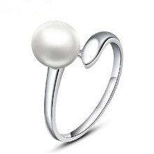 AAA натуральное пресноводное Ювелирное кольцо с имитацией Перл для женщин элегантное ювелирное изделие Обручальное Серебро CZ крепление жемчуг Луна камень