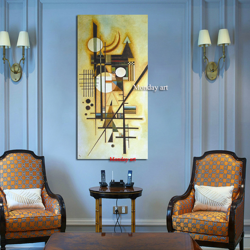 100 Hand painted Canvas Painting Abstract Wassily Kandinsky Oil Painting Home Decor Pictures Art Canvas Posters in Painting Calligraphy from Home Garden