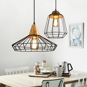 светодиодный светильник люстра деревянный светильник светильники для ресторана подвесные светильники в стиле лофт светильники для гост