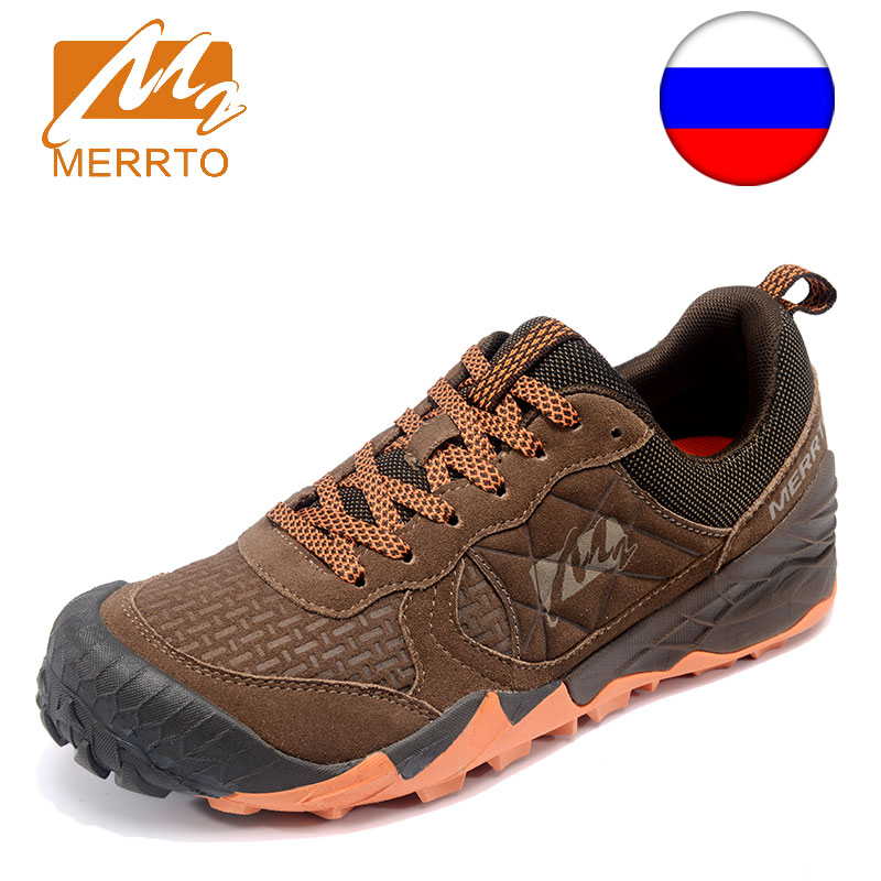 Ship from RU MERRTO Outdoor Sports Shoes Anti Skid Wear Resistant Men Tactical Hiking Shoes For Autumn Breathable Waterproof merrto men s outdoor cowhide hiking shoe multi fundtion waterproof anti skid walking sneakers wear resistance sport camping shoe