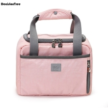 Fashion Big Capacity Lunch Bag Cooler or Insulated Carry Storage Food Tote Thermal Picnic box Canvas 31