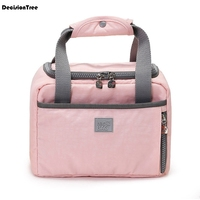 Fashion Big Capacity Lunch Bag Cooler or Cooler Insulated Carry Storage Food Tote Thermal Picnic Lunch box Canvas Bag 31