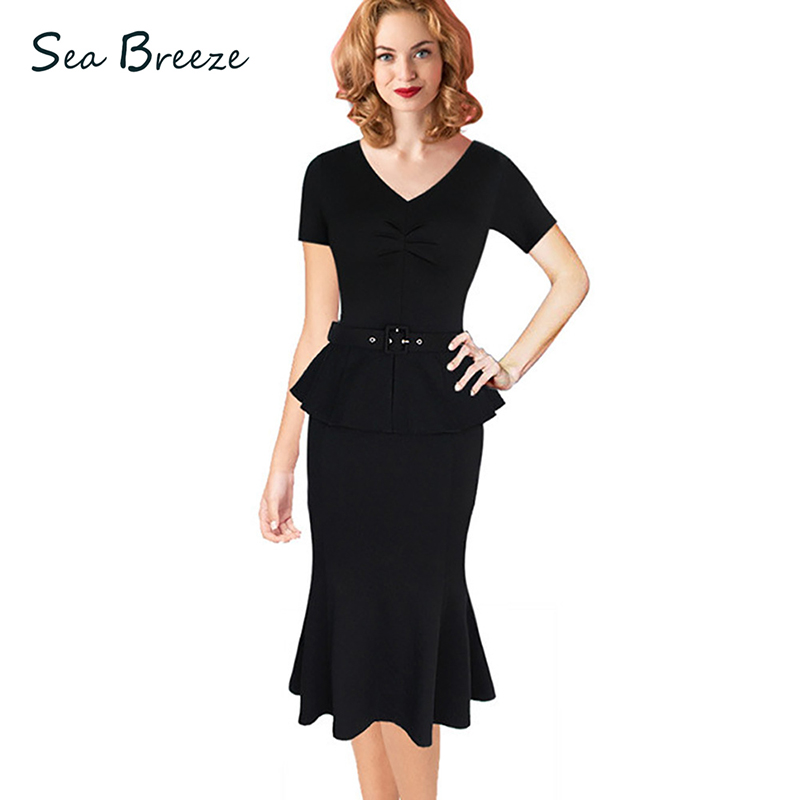 Sea Breeze Summer Women Fake Two Pieces Sexy V Neck Short