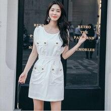 c11cd65adb44 2018 Sommerkleid Neue Beiläufige Mode Militär Stil Wind Fledermaus hülse  Dünnes Kurzen Weißen Kleid Elegante Taschen Taste O nec.