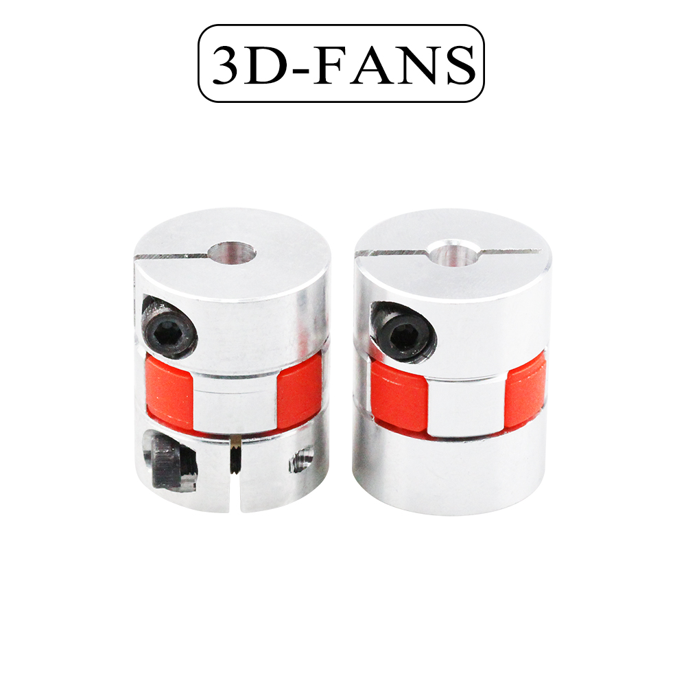 3D Printer Parts 5mm To 8mm / 6.35mm To 8mm CNC Motor Jaw Shaft Coupler Flexible Coupling Spider Flexible 5*8*25mm / 6.35*8*25mm