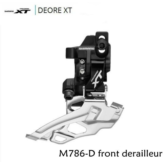 Shimano Deore XT FD-M786 20 speed Down-Swing Direct Mount Front Derailleur 2x10 M786 запчасть shimano адаптер fd 905 d для direct mount